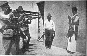 Imagen icónica de la guerra cristera.