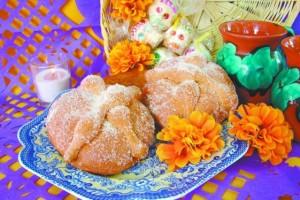 Tradicional pan de muerto