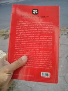 Contraportada de La noche de Tlatelolco