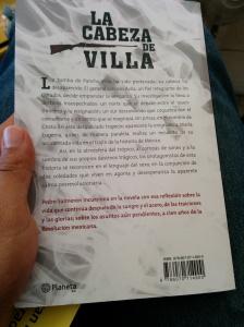 La cabeza de Villa-Contraportada