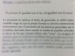 Extracto - El genocidio como práctica social