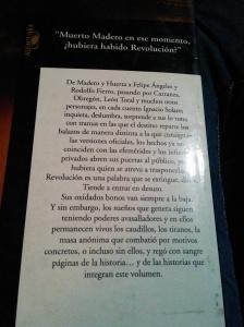 Contraportada de Ficciones de la revolución mexicana