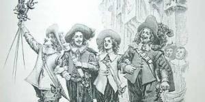 Ilustración los tres mosqueteros